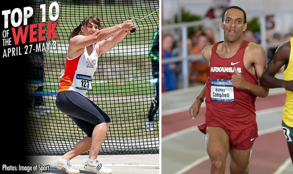 Best Marks of the College T&F Weekend: April 27-May 3