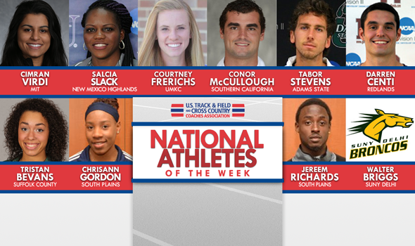 National Athletes of the Week Tear Up Lists and Record Books
