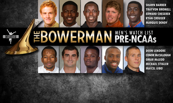 Pre-NCAA Championships Bowerman Trophy Men's Watch List Unveiled