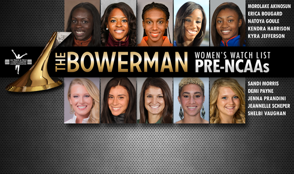 Pre-NCAA Championships Watch List for Women's Bowerman Trophy Unveiled
