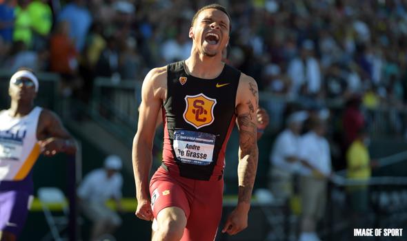 De Grasse's Historic Sprint Double Headlines Day 3 of NCAA Championships