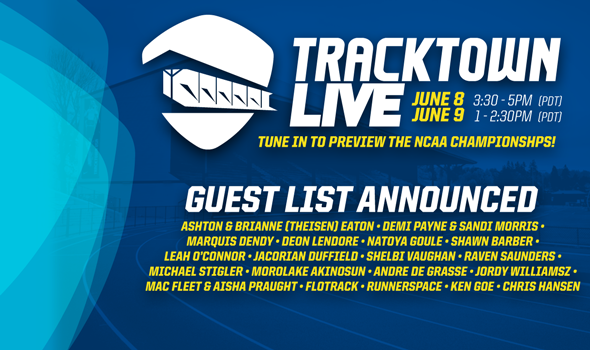 Loaded Guest List Announced for TrackTown LIVE Webcast
