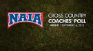 NAIA Men's Cross Country Coaches' Top 25 Poll – Week 1