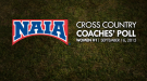 NAIA Women's Cross Country Coaches' Top 25 Poll – Week 1