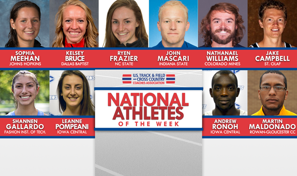 NCAA & NJCAA Cross Country National Athletes of the Week