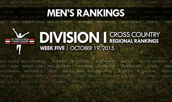 NCAA DI Men's Regional Rankings Undergo Major Overhaul