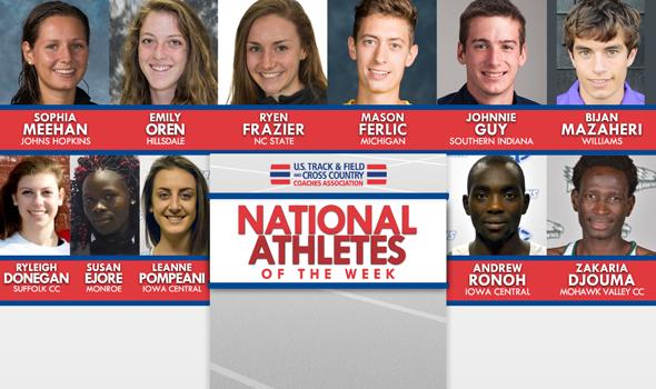 NCAA & NJCAA National Athletes of the Week (Oct. 5)