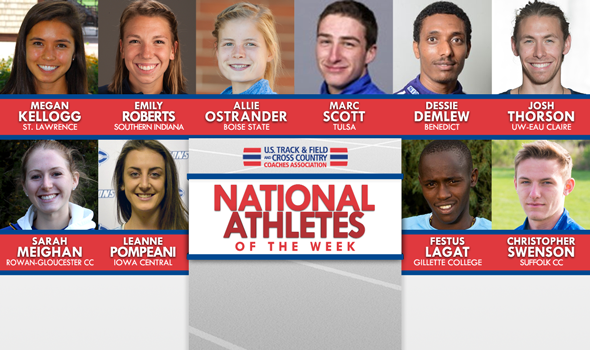NCAA & NJCAA National Athletes of the Week (Oct. 19)