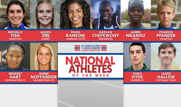 NCAA & NJCAA National Athletes of the Week (Oct. 26)