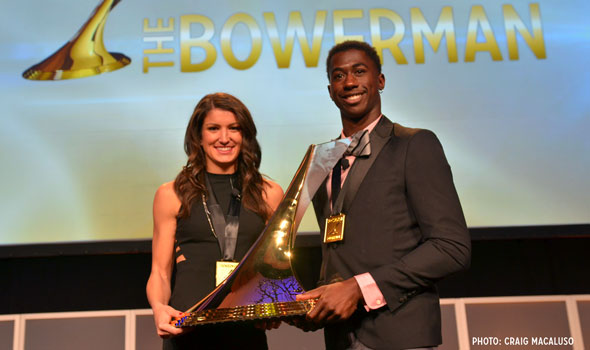 Dendy, Prandini In Their Element As Bowerman Winners