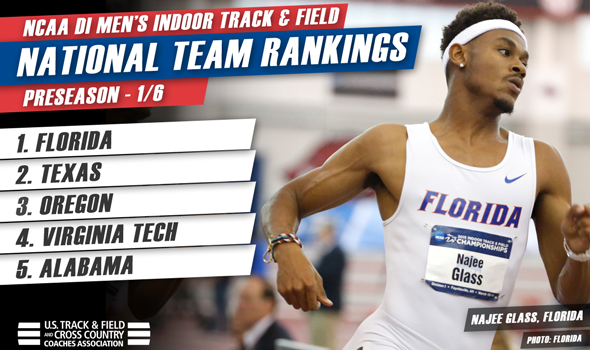 Florida Men Top Preseason Indoor Track & Field National Rankings