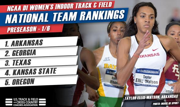 Arkansas Women Lead SEC-Heavy Preseason Indoor Track & Field National Rankings
