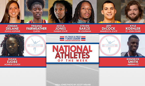 Third Batch of National Athletes of the Week for 2015-16 Indoor Season