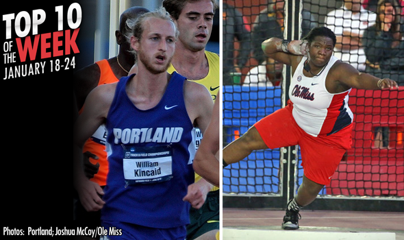 Best Marks of the College T&F Weekend: January 18-24, 2016