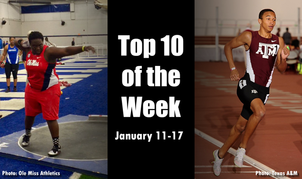 Best Marks of the College T&F Weekend: January 11-17, 2016