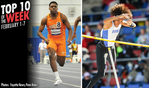 Best Marks of the College T&F Weekend: February 1-7, 2016