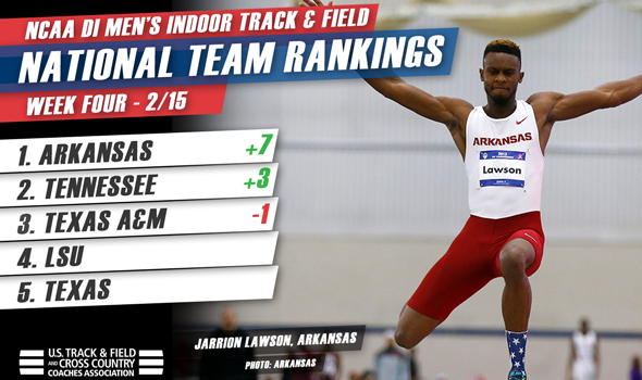 Arkansas Men Overtake Topsy-Turvy NCAA DI National Team Rankings