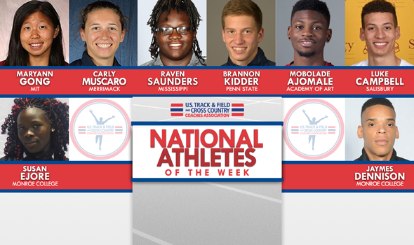 National Athletes of the Week Turn in Blistering Times, Huge Marks