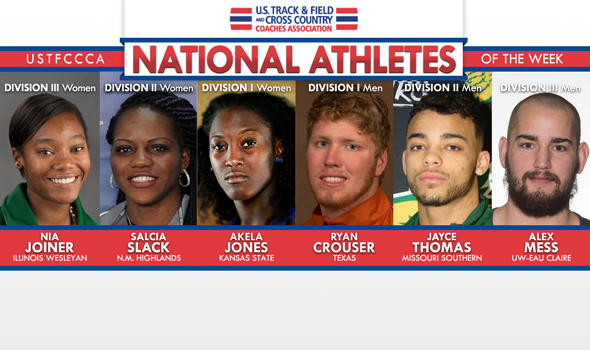 NCAA National Athletes of the Week Shine at Conference Meets