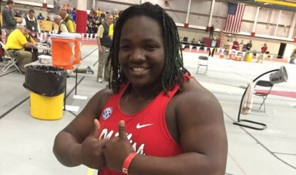 Raven Saunders Breaks Collegiate Indoor Shot Put Record