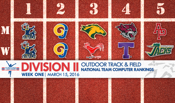 First NCAA DII Outdoor T&F National Team Rankings Debut