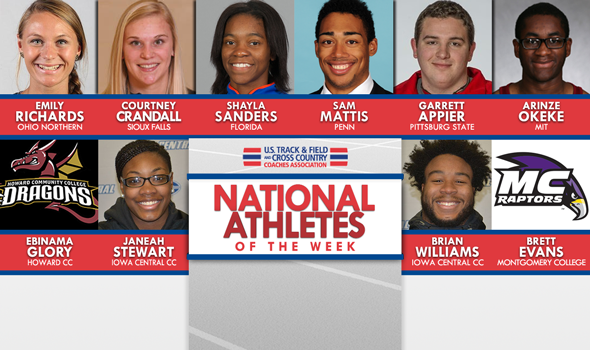 NCAA & NJCAA National Athletes of the Week For March 29