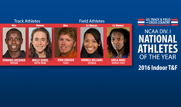 2016 NCAA DI Indoor National Athletes of the Year Announced