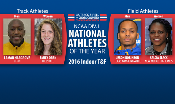 2016 NCAA DII Indoor National Athletes of the Year Announced
