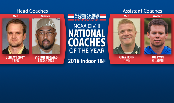 2016 NCAA DII Indoor National Coaches of the Year Announced