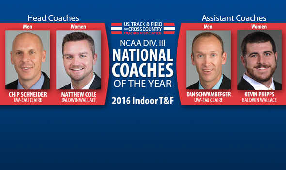 2016 NCAA DIII Indoor National Coaches of the Year Announced