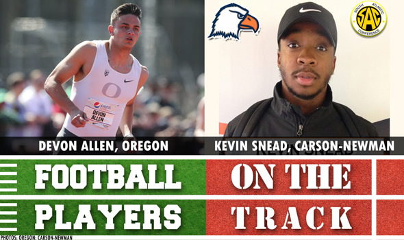 College Football Players on the Track: April 12