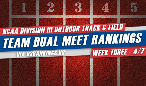 Two New Teams Take Over Top Spots Of NCAA DIII Outdoor T&F Dual Meet Rankings
