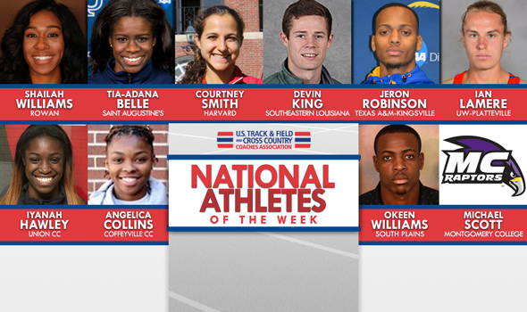 NCAA & NJCAA National Athletes of the Week For April 5