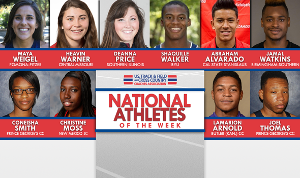 NCAA & NJCAA National Athletes of the Week (April 12)