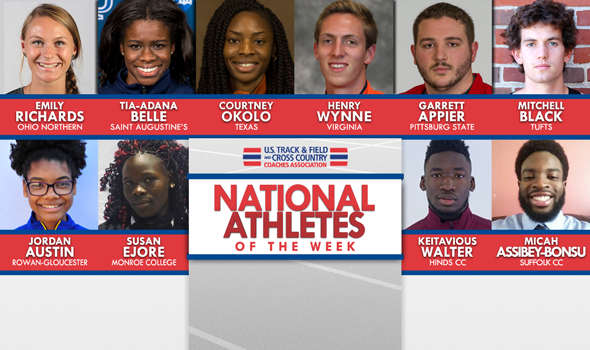 NCAA & NJCAA National Athletes of the Week For April 26