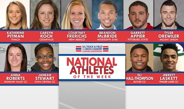 NCAA & NJCAA National Athletes of the Week (May 3)