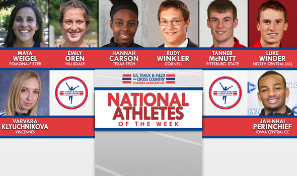 NCAA & NJCAA National Athletes of the Week (May 10)