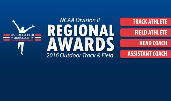 NCAA Division II Regional Award Winners for 2016 Outdoor Season