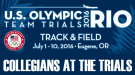 List Of Collegians At 2016 U.S. Olympic Trials – Track & Field