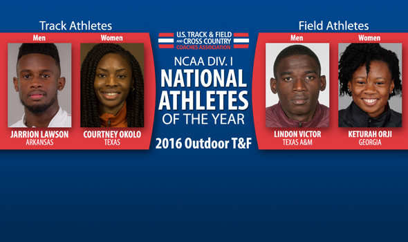 National Athletes of the Year Announced For 2016 NCAA DI Outdoor Season