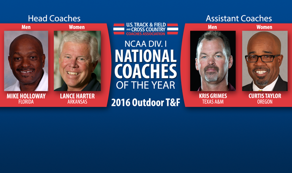 National Coaches of the Year Announced for 2016 NCAA DI Outdoor Season