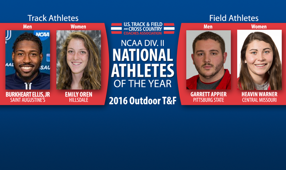 National Athletes of the Year Announced for NCAA Division II Outdoor T&F