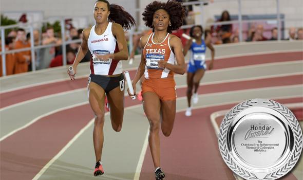 Texas' Courtney Okolo Named Honda Award Winner For Track & Field