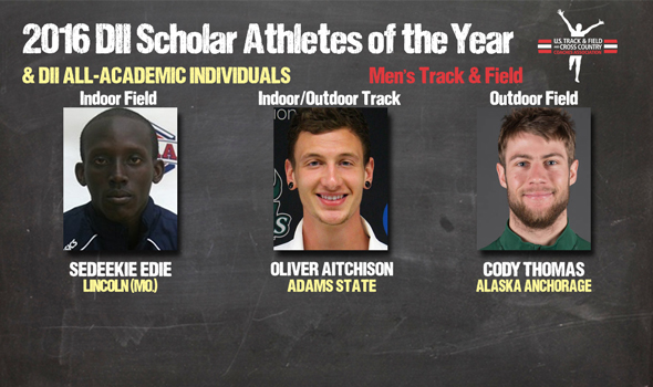 DII Men's Track & Field Scholar Athletes of the Year & All-Academic Individuals Announced