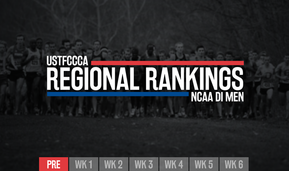 NCAA DI Men's Preseason Regional Rankings Announced