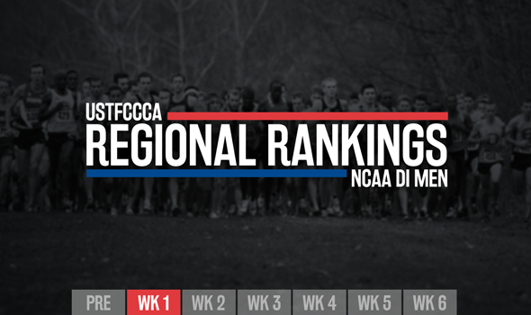 First Regular-Season Regional Rankings Announced for NCAA DI Men's XC