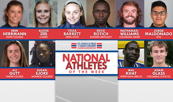 XC National Athletes of the Week For September 12
