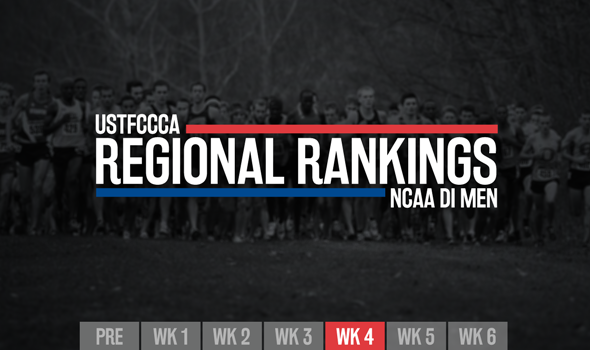 Newest NCAA DI Men's Regional Rankings Announced