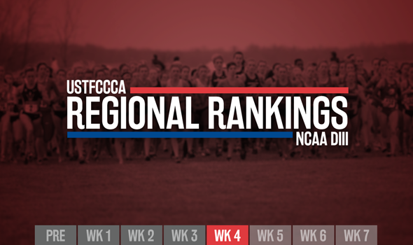 Relatively Quiet Week In NCAA DIII XC Regional Rankings
