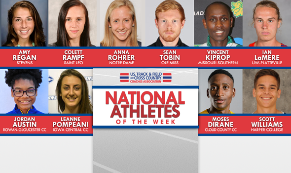 NCAA & NJCAA XC National Athletes of the Week (October 3)
